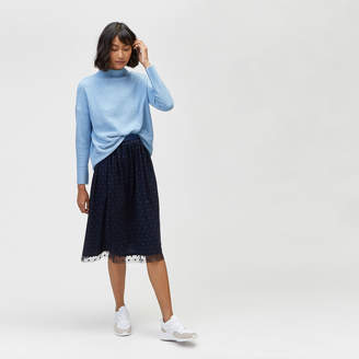 Warehouse Flocked Spot Mesh Skirt
