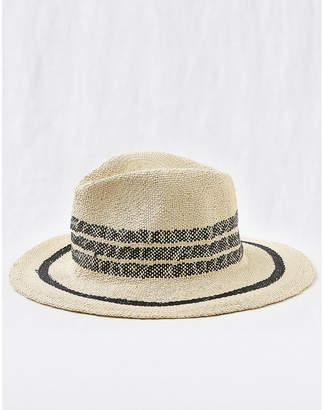 aerie Striped Panama Hat