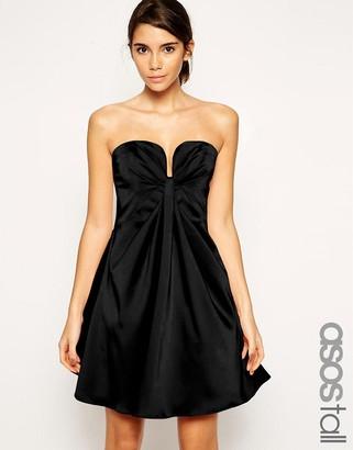 ASOS Tall ASOS TALL Twist Plunge Bandeau Mini Dress $112 thestylecure.com