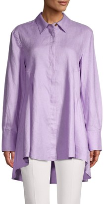 DKNY High-Low Button Up Shirt