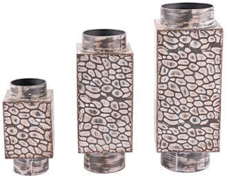 ZUO CLOSEOUT! Metal Vases, Set Of 3