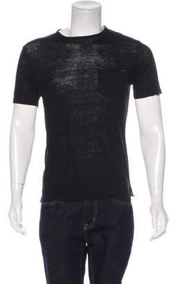 Rag & Bone Linen Crew Neck T-Shirt