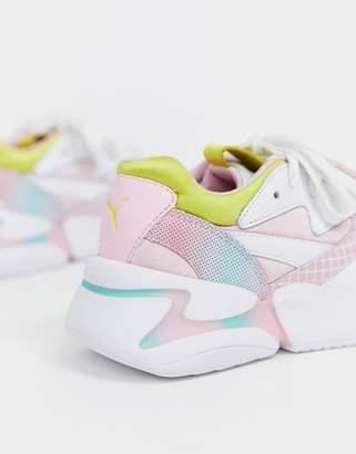 Puma X Barbie Nova 90's block multi color sneakers