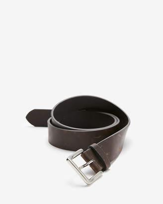 Express Dark Brown Leather Single Prong Buckle Belt