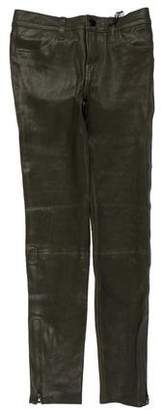 J Brand Leather Skinny Pants w/ Tags