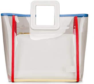 STAUD Framed Shirley Bag in Clear & Soft Cream Multi | FWRD