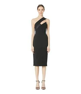Cushnie One Shoulder Pencil Dress with Asymmetrical Charme