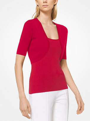 Michael Kors Stretch-Viscose Shrug