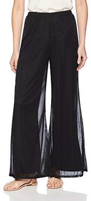 MSK Women's Petite Day to Evening Wide Leg mesh Pant