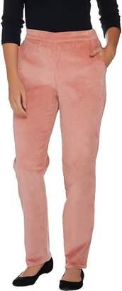 Denim & Co. Petite Classic Waist Slim Leg Corduroy Pants