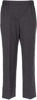 N°21 N.21 Embellished Cropped Trousers