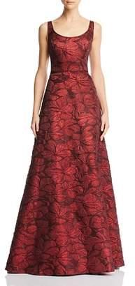Aidan Mattox Floral Jacquard Gown