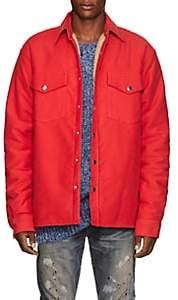 Simon Miller Men's Collyer Cotton Moleskin Shirt Jacket - Red