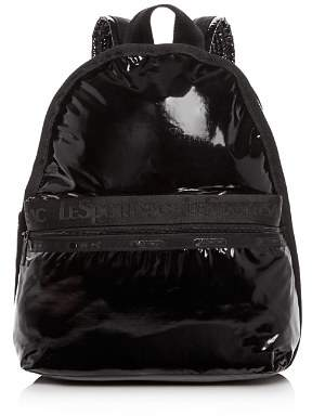 Le Sport Sac Candace Faux Patent Leather Backpack