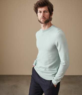 Reiss MAURICE CREW NECK JUMPER Mint