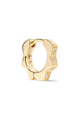 Alison Lou Stelle 14-karat Gold Diamond Earring