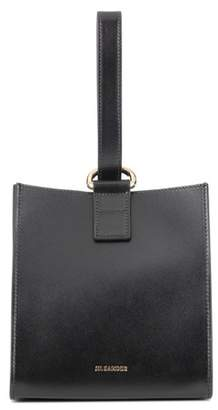 Jil Sander Bell leather clutch