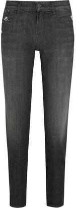 J Brand - Sadey Cropped Distressed Slim Boyfriend Jeans - Gray $200 thestylecure.com