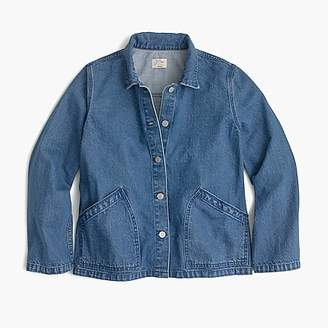 J.Crew Denim swing jacket in Lily wash
