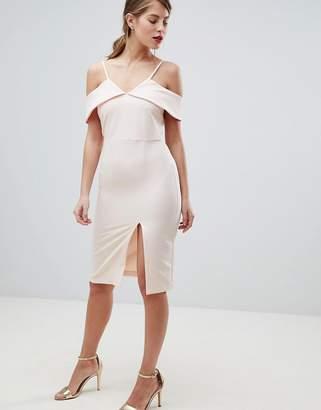 Oasis Cold Shoulder Bodycon Midi Dress