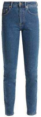 Emilia Wickstead Kendall Slim Leg Stretch Denim Jeans - Womens - Light Blue