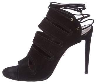 Aquazzura Suede Cutout Sandals