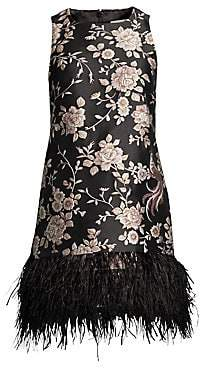 Kate Spade Women's Madison Avenue Pamella Chinoiserie Feather-Hem Dress - Size 0