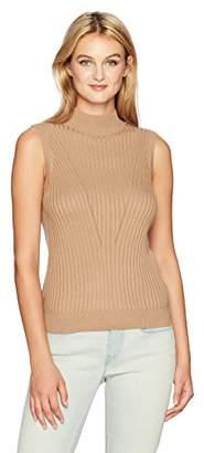 Michael Stars Women's Luxe Cotton Blend Mock Neck Shell