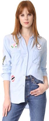 RAILS Carter Patches Button Down Shirt $148 thestylecure.com
