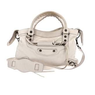 Balenciaga Town White Leather Handbag