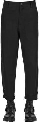 Isabel Benenato Cropped Wide Leg Denim Jeans