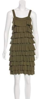 Alice + Olivia Ruffled Knit Dress