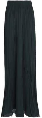 Amanda Wakeley Smocked Gathered Silk-Tulle Maxi Skirt