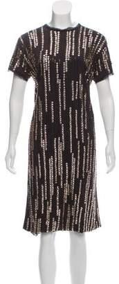 Lanvin Embellished Knee-Length Dress