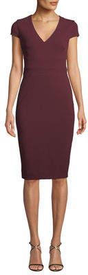 Donna Morgan Cap-Sleeve Crepe Sheath Dress