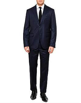 Versace 2B Sb Cv Fl Fr Wool Comfort Plain Suit