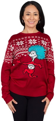 Mighty Fine Dr. Seuss Thing 2 Ugly ChristmasSweater