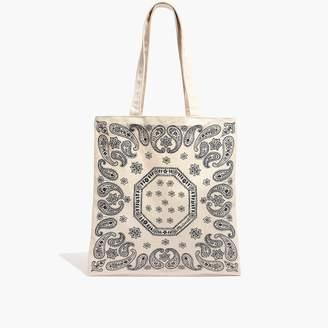 Madewell The Reusable Canvas Tote Bag: Bandana Edition