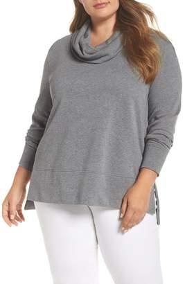 Caslon Cowl Neck Tunic Sweatshirt