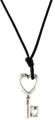 Pomellato Heart Motif Key Pendant Necklace