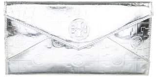 Tory Burch Embossed Leather Envelope Wallet