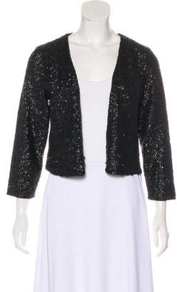 Velvet Sequined Knit Cardigan