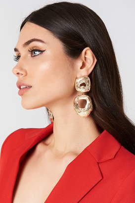 Tranloev Double Round Hanging Earrings Gold