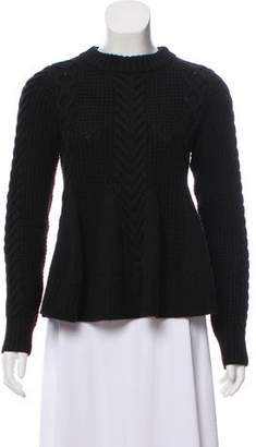 Elizabeth and James Long Sleeve Cable Knit Sweater