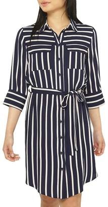 Dorothy Perkins Petite Navy Shirt Dress