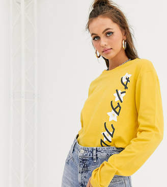 Santa Cruz Japanese Blossom Strip long sleeve t-shirt in yellow