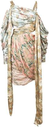 Zimmermann draped floral print dress