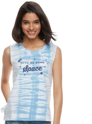 """Juniors' """"Give Me Some Space"""" Tie-Dye Tank Top"""