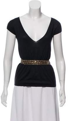 Lanvin Embellished Silk Top