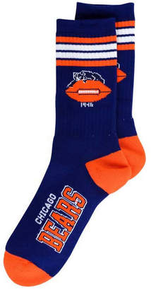 For Bare Feet Chicago Bears Retro 4 Stripe Deuce Crew Socks
